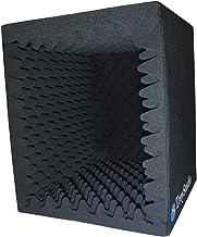 جعبه غرفه آوازی ضبط صدا قابل حمل TroyStudio -   فیلتر بازتابی و جداسازی میکروفون روبرو   -   فوم جاذب بزرگ ، تاشو ، قابل نصب ، فوق العاده متراکم و صدا (  سیاه)