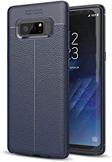 Case Plastic leather Design, Mobile protection, flexible, Cover for Samsung Galaxy Note 8 (Dark Blue)