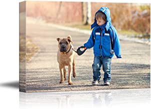 SIGNFORD Custom Canvas Prints, Child Pets Personalized Poster Wall Art with Your Photos Wood Frame Digitally Printed - 11