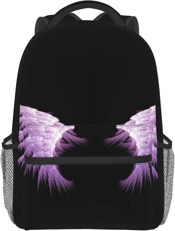 Purple Angel Wings School Backpacks For Lightweight Fashion Quality inspection Bookbag Mini
