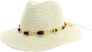 Women Fedora Straw Hat Wide Brim Panama Floppy Straw Hat Roll up Beach Sun Hat UPF50+