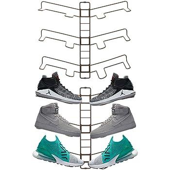 sneakers - confezione da 3 colore cromato mDesign scarpiera salvaspazio ecc porta scarpe ideale per scarpe col tacco portascarpe da armadio scarpe da passeggio