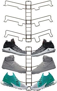 mDesign rangement chaussures (lot de 2) – étagère chaussure murale ajustable pour trois paires de baskets, chaussures de s...