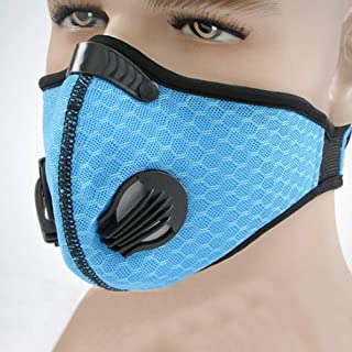 Carrfan- Sport Dust Mask Cycling Running Outdoor Face Mask Training Mask Dustproof Carbon Filtration Workout Running Motorcycle Cycling Mask
