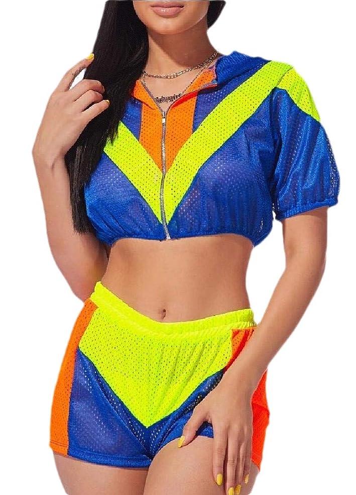 販売員ブランド自慢Women Tracksuit 2 Piece Outfits Jumpsuits Lightweight Crop Top Pants Set