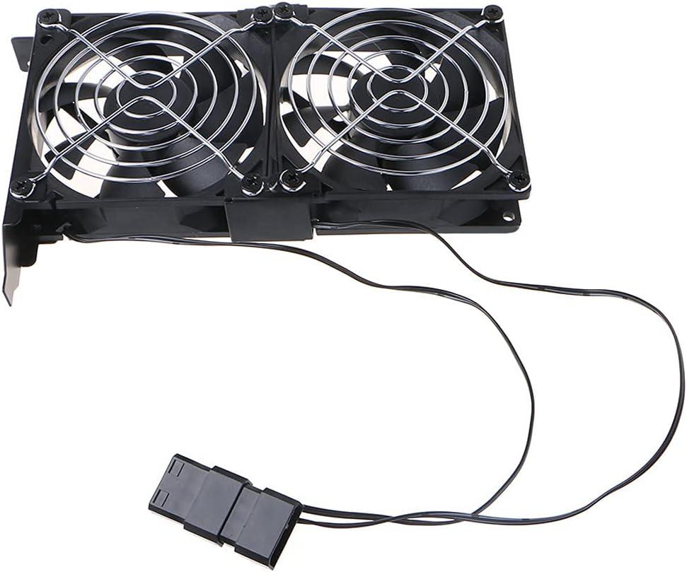MYBOON Computadora de Escritorio Universal VGA Cooler Partner Ventilador de enfriamiento PCI de chasis Ultra silencioso