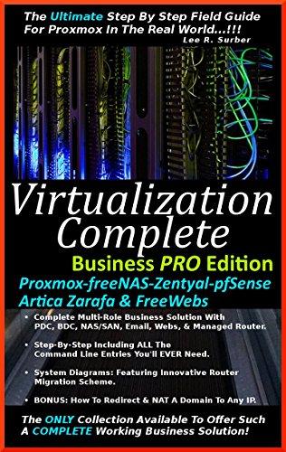Virtualization Complete: Business PRO Edition (Proxmox-freeNAS-Zentyal-pfSense-Artica Zarafa & FreeWebs) (English Edition)
