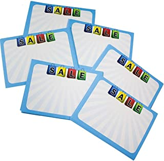 Retail Genius Sale Price Tag 60 Large Sign Value Pack. Big 5x7 Display Tags Boost Business. Durable, Easy to Write On Cards Are Perfect for Yard, Estate & Garage Sales, Fundraiser, Store & Flea Market