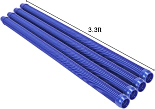 VINGLI Pool Vacuum Hose, Perfect Pool Vacuum Extension/Replacement, 4 Section Hoses for Pool/Spa Cleaners(13 Feet)