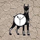 Geek Gadget Vinilo Reloj de Pared Arte Diseño Decorativo Decoración de Mujeres Diseño Vintage Oficina Bar Habitación Decoración del hogar Art Home
