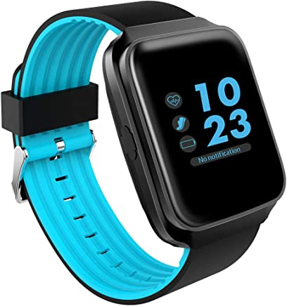 $64 » 1.54'' IPS Screen Smart Watch Heart Rate Monitor Pedometer Anti-Lost Fitness Sports Bracelet - Blue