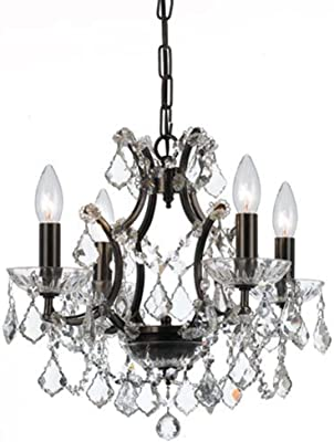 Amazon.com: Filmore - Lámpara de araña de 4 velas con ...