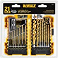 DEWALT Titanium Drill Bit Set, Pilot Point, 21-Piece (DW1361)