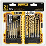 DEWALT Titanium Drill Bit Set, Pilot Point,...