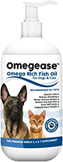 100% Pure Omega 3, 6 & 9 Fish Oil for Dogs and Cats. Relieves Scratching & Joint Pain. Improves Skin, Coat, Immune & Heart...