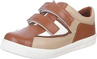 حذاء رياضي للاولاد جلد صناعي لونين بشريط فيلكرو للاولاد من بلينو
