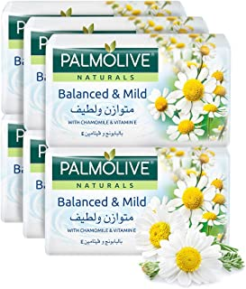 Palmolive Naturals Bar Soap Balanced and Mild with Chamomile and Vitamin E, 170 gm, Pack of 6