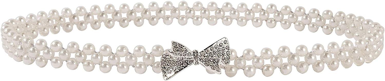 Ayliss Women Pearl Cheap SALE Start Waist Belt Bridal Elastic with R Factory outlet Wedding