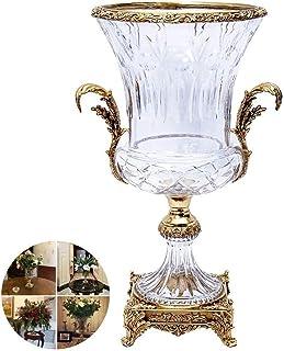 Floreros de decoración de la Vida Florero de decoración de Flores Artificiales Adornos Florales de Gama Alta Sala de Estar...
