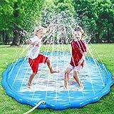 Faburo Sprinkler Spielzeug Splash Pad Sprinkler Wassermatte Aufblasbare Wasserspielmatte Wassergefüllte Spielmatte Wassermatte Pool Kinder