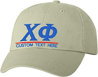 Personalized Chi Phi Greek Line Hat