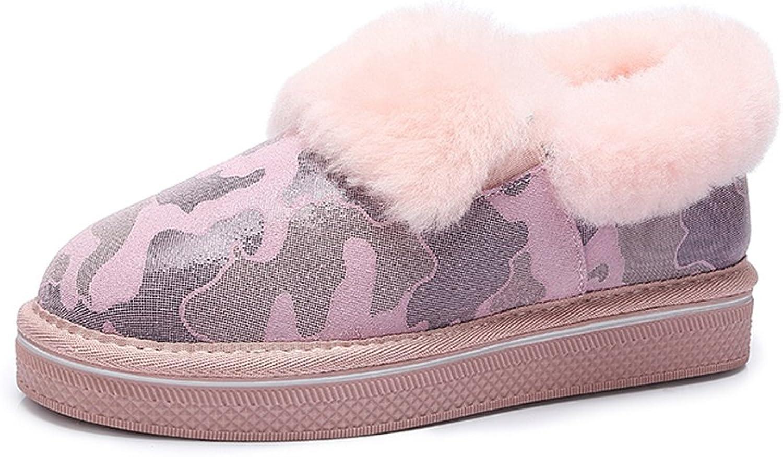 Women 's winter snow boots non - slip boots students fashion warm cotton shoes ( color   Pink , Size   US 6.5\UK 5.5\EUR 38 )