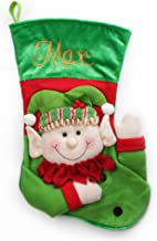 The Christmas Cart Personalised Gifts & Keepsakes Fun 3D Christmas Stockings (Elf), Christmas Décor to Display on Mantle o...
