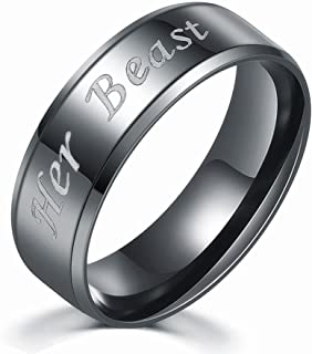 JDXN Couples Rings Her King His Queen Beauty Beast Wedding Band Set Anniversary Engagement Promise Ring