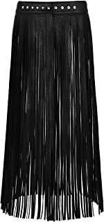 Best faux leather fringe skirt Reviews