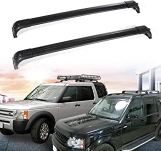 Bestauto Cross Bar Roof Rack Cross Bars Fit for 05-16 Land Rover Discovery LR3 LR4 Long Version Rail Roof Rack Aluminum Black
