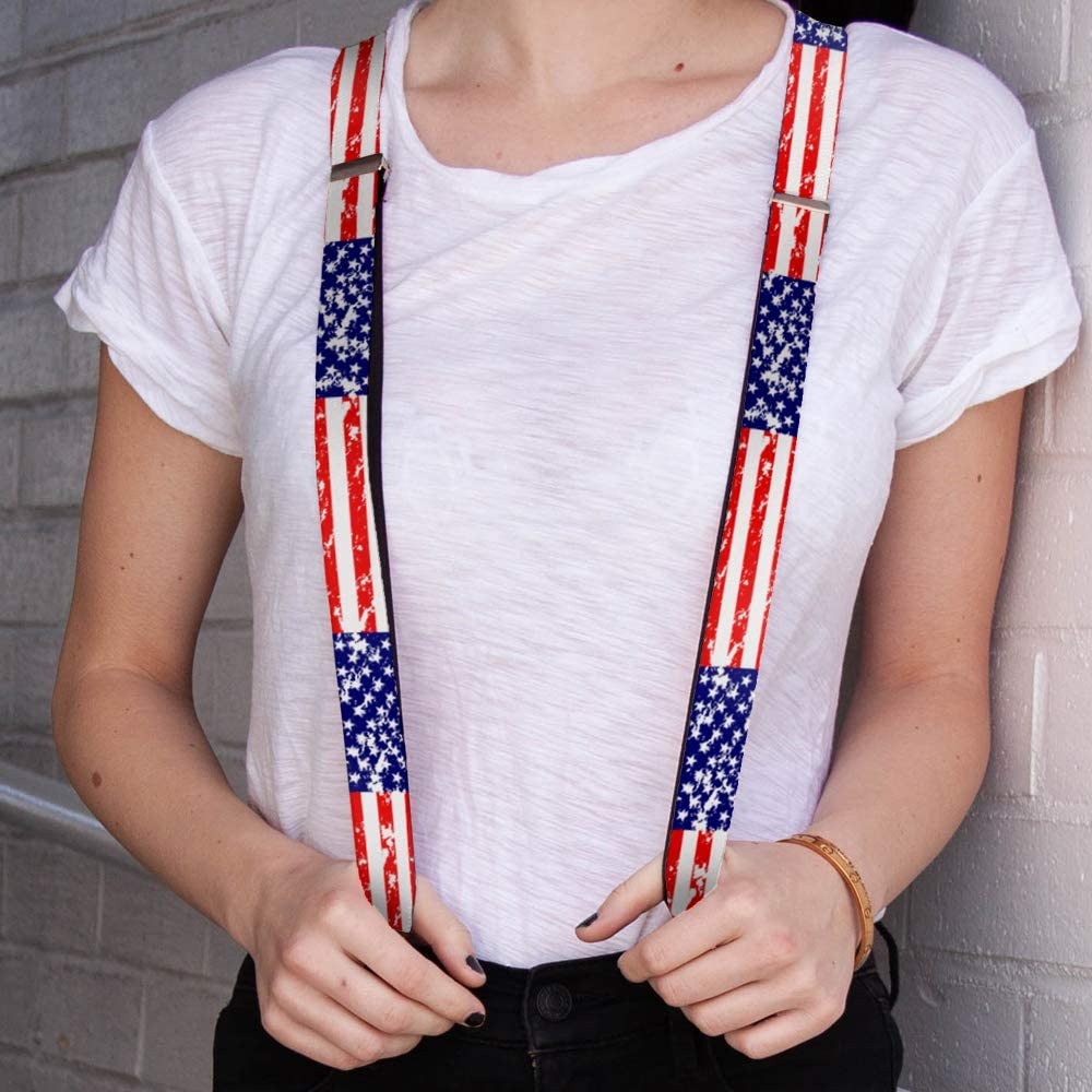 Buckle-Down womens Buckle-down - United States Suspenders, Multicolor, One Size US