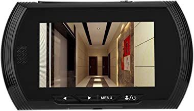 4.3 inch Door Viewer, 3MP TFT Color Digital Peephole Door Camera Viewer with 160 degrees Wide Angle, IR Night vision, Motion Detect, No Disturb Function, Peephole Camera Doorbell for Home Security.