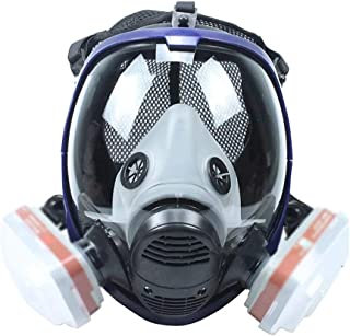 Reusable Respirator Gas Mask, Chemcial Full Face Respirator Widely Used in Organic Gas, Paint Spary, Chemical, Woodworking, Dust Protectio