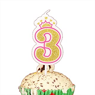 LOVELY BITON Gold Happy Birthday Candles, 0-9 Molded Number Candles for Party Time Special Day Funny Candles Make a Wish C...