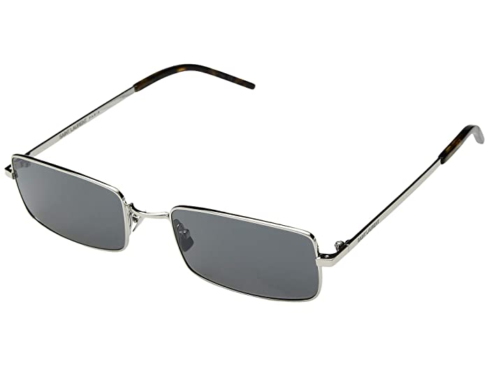 Saint Laurent SL 252 (Silver/Grey) Fashion Sunglasses