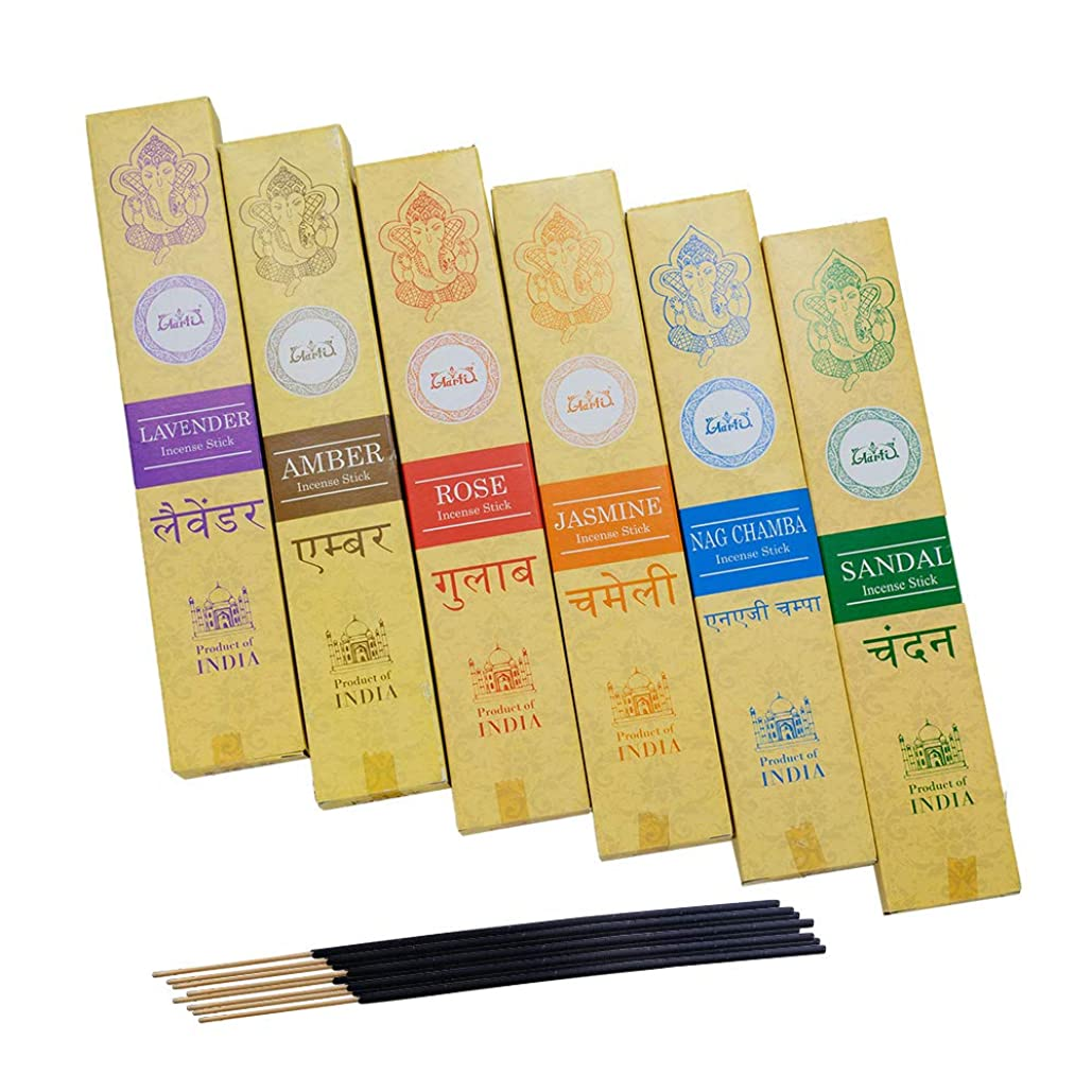 つば払い戻しまっすぐにする神戸アールティー インド お香 6種類 セット スティック インセンス