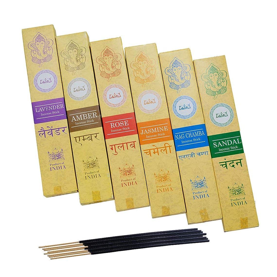 類推設計図視力神戸アールティー インド お香 6種類 セット スティック インセンス