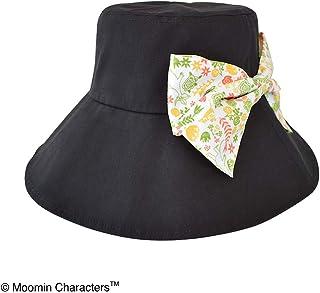 セントレディス ムーミン 折り畳みつば広帽子 フラワーブラック【ST-NM0003】