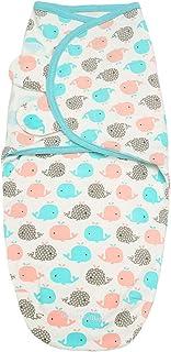 Baby Swaddle Wrap for Newborn Sleep Sack 100% Cotton Muslin Adjustable Sleepsack Transition Sleep Bag Wearable Blanket for...