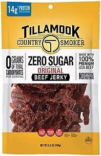 Tillamook Country Smoker Zero Sugar Original Keto Friendly Beef Jerky, 6.5 Ounce (Pack of 1)