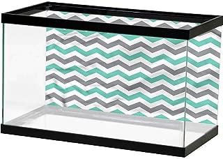 SLLART Underwater Poster Chevron,Diagonal Zig Zag Stripes PVC Adhesive Decor