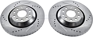 Power Stop EBR1070XPR Rear Evolution Drilled /& Slotted Rotor Pair