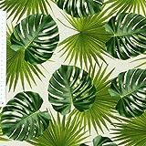 Baumwollstoff Stoff Dekostoff Digitaldruck Palmen Blätter