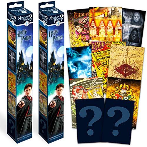 Wizarding World of Harry Potter - Juego de pósteres de Harry Potter (incluye 4 pósteres de pared de Harry Potter, decoración de...