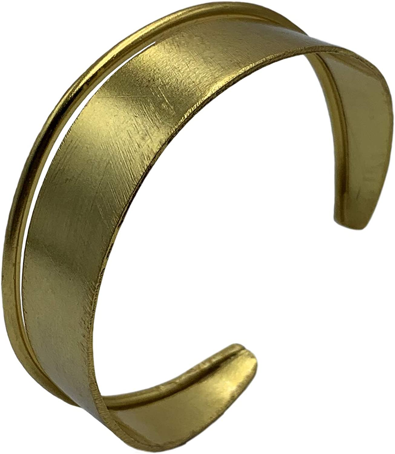 Avery and May Multilayer Stackable Chunky Minimalist Double Handcuff Bangle Bracelet Cuff for Women, Gold Plated Brass