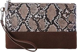 702eef85bc3b Leopard Print Clutch Purses Bags Women Crocodile Embossed Snakeskin Pattern  Wristlet Pouch Wallet Faux Leather