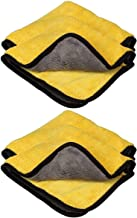 VRT® Ultra Premium Super Absorbent Extra Thick Multipurpose Microfibre Cloth for Car Cleaning, Kitchen, Bike, Laptop, LED TV, Mirrors, Bathrooms, Furniture and Many More. (45X45cm)(pack of 4)