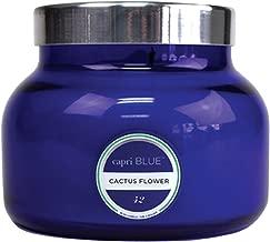 Capri Blue Petite 8 Ounce Jar Candle with Lid-Blue-Cactus Flower