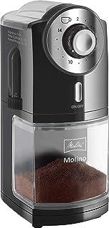 Melitta 1019-02 Molino - Molinillo de café eléctrico, Disco plano, Negro