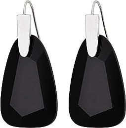 Rhodium/Black Opaque Glass